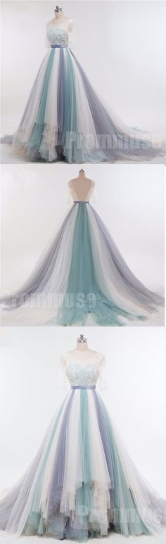 Affordable Charming Half Sleeves Gorgeous Long Prom Dresses, PM0790 #promdress