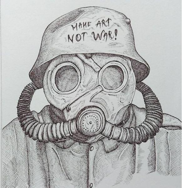 Illustration - Make Art Not War!