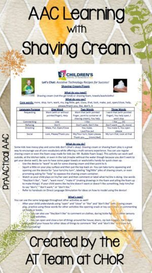 PrAACtical Supports for AAC Learners: AT Recipes for Success - Sensorimotor Activities