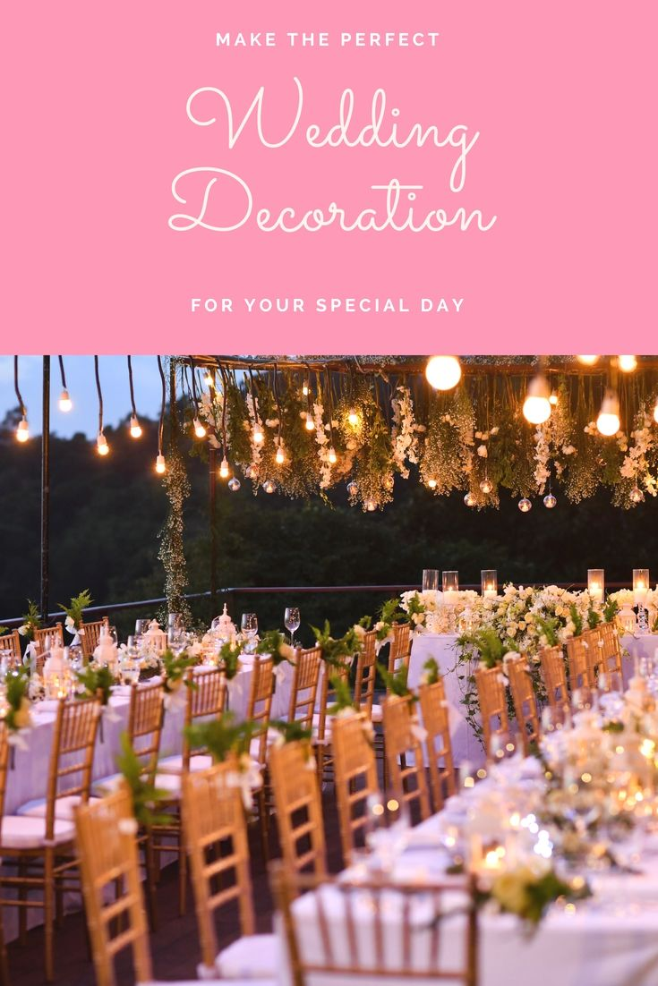 209 best Wedding Decoration images on Pinterest
