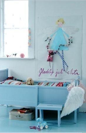 Prachtige blauwe meisjeskamer