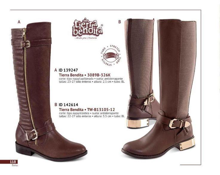 Botas de Tierra Bendita tipo ecuestre. Botas con detalles dorados metalicos. Catalogo botas Price Shoes 2017 - 2018