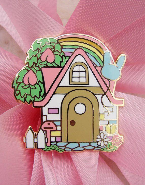 Preorder Pastel Animal Crossing Enamel Pin Video Game Kawaii Hard