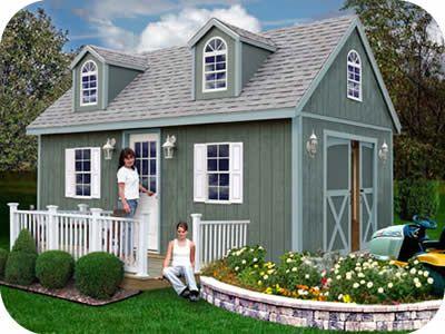 Best Barns Arlington 12x16 Wood Storage Shed Kit