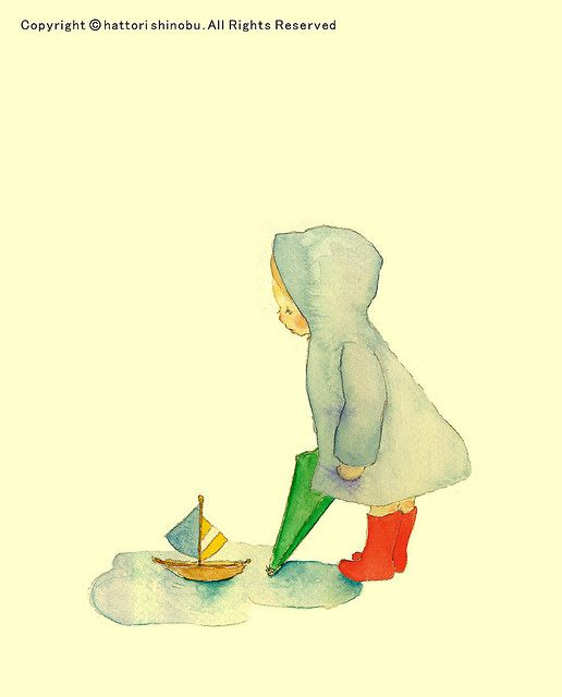 sailing in the puddle - Shinobu Hattori