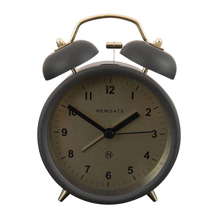 Newgate Clocks - Réveil Charlie Bell - Gris Gravité Mat