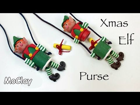 This technique can be used to make non-elf containers :-) How to make a Xmas Elf purse - Polymer clay tutorial - YouTube