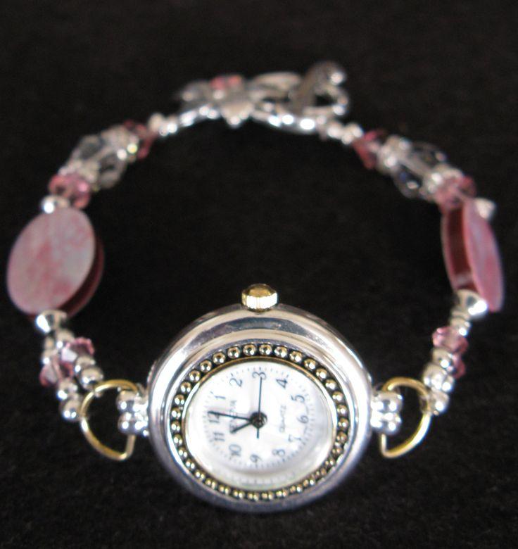 Swaroski beaded watch strap - own design