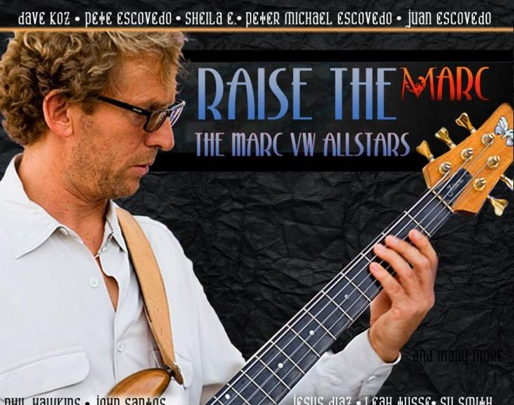 """Raise the Marc""  A Benefit CD by the Marc VW Allstars & Produced by Peter Michael Escovedo To Be Released July 14    Proceeds Will Benefit Bassist Marc van Wageningen Who Was Severely Injured January 12 When Struck by an Amtrak Train In Front of Yoshi's in Oakland  Contributing Artists Include  Dave Koz Sheila E. Ray Obiedo Tony Lindsay  John Santos Pete Escovedo & Peter Horvath  June 19 2017  On January 12 of this year bassist Marc van Wageningen was struck by an Amtrak train on his way to…"