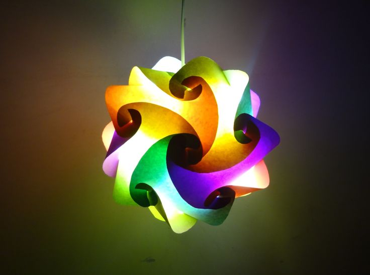 Paper Crafts (Home Decoration Ideas):Beautiful Multicoloured Lantern : Christmas Decor