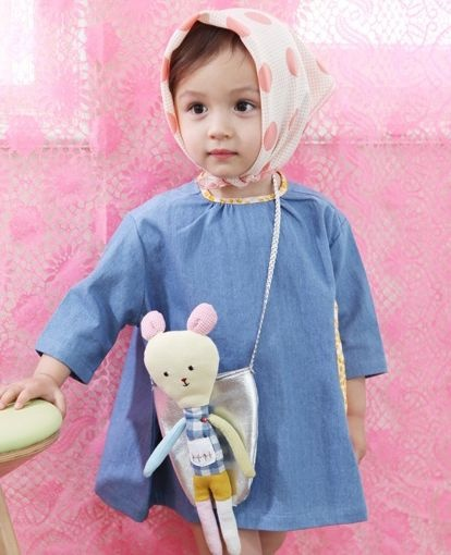 import select shop of clothes children clothes cute tsubomi amber Korea, annika - annika Totori Dress (with bag)