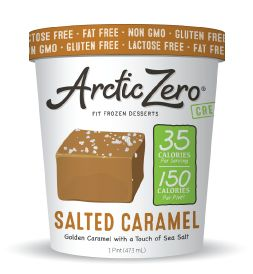 Arctic Zero Salted Caramel Dairy Free Ice Cream.  I've tried a few flavors of the Arctic Zero ice cream, I'm not a fan. The texure is very odd with all of them, but should you purchase one I would most definitely go with the Salted Caramel- it is the best flavor.