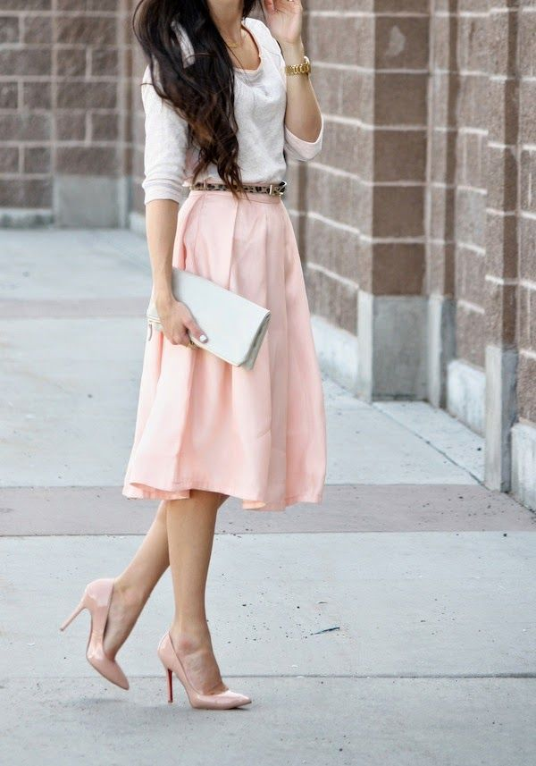 17 Best Ideas About Light Pink Skirt On Pinterest Midi