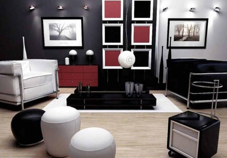 Red Black And White Living Room Sets