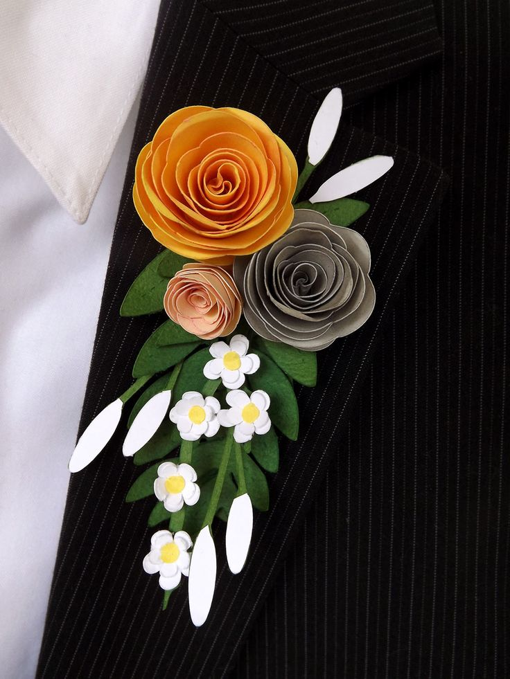 Paper Prom Boutonniere by Pazzles DT Member Heidi Edwards. Boutonniere made entirely of paper. Instructions in the Pazzles Craft Room.