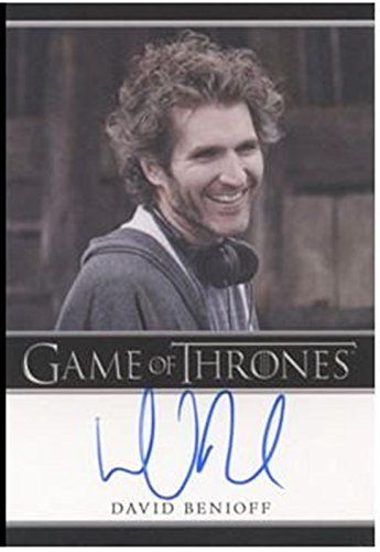 Game of Thrones Season Two 2 Autograph Card David Benioff producer writer
