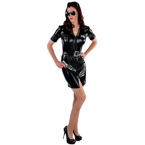 Sexy FBI politie kostuum voor dames. Dit sexy FBI kostuum voor dames bestaat uit een jurkje met en losse riem. Materiaal: 100 % polyester.
