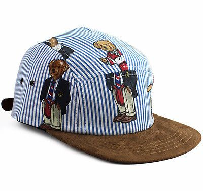 Polo Bear Custom 5 Panel Cap bucket Ralph Lauren sport NEW