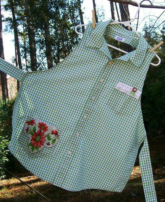 Delantal con camisa  Reciclada