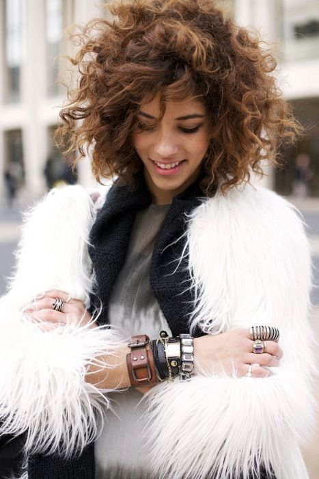 Urban Chic. curly bob, hair style