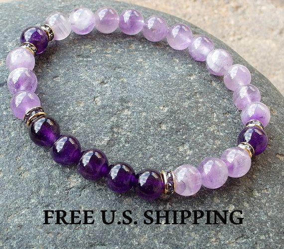 Anti-anxiety, Amethyst, Mala bracelet, yoga bracelet, Reiki charged, Energy bracelet, healing bracelet, spirituality, Mala