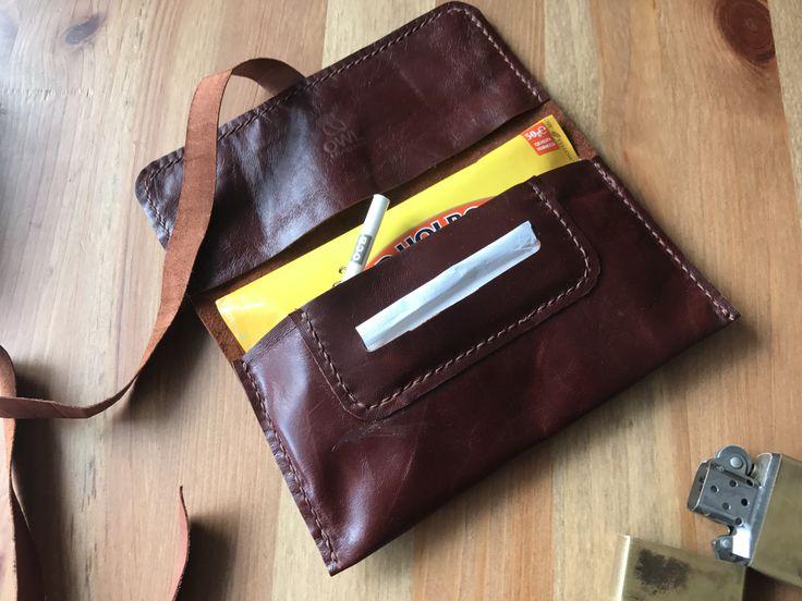 El yapımı özel tasarım bağcıklı tütün kesesi. Handmade custom design tobacco pouch.