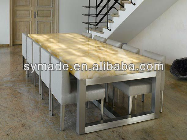 Luxury White Quartz Backlit Table Top Quartz Countertop