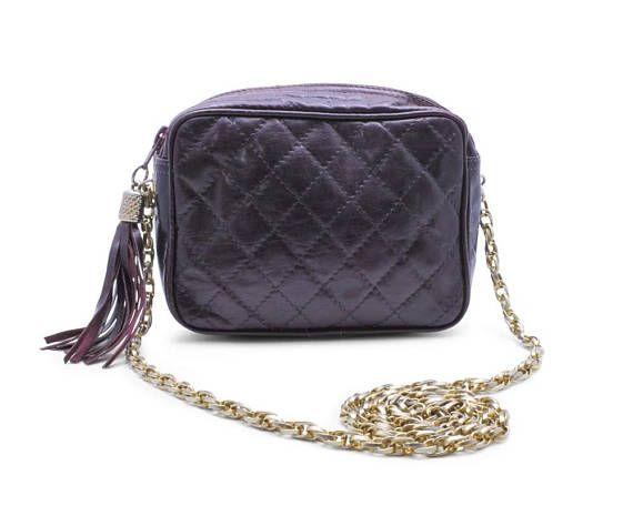 High Fashion Quilted Vintage 1980s Shoulder Bag Handbag Purse