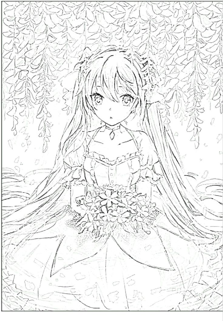 43 best Coloring pages anime images on Pinterest - best of coloring pages anime girl