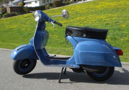 Vespa TS Farbe RAL 5007 Brilliantblau
