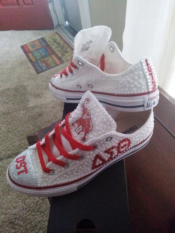 Delta Sigma Theta Pearl Converse @laqueata LOOK AT THESE!!!!!!!!!