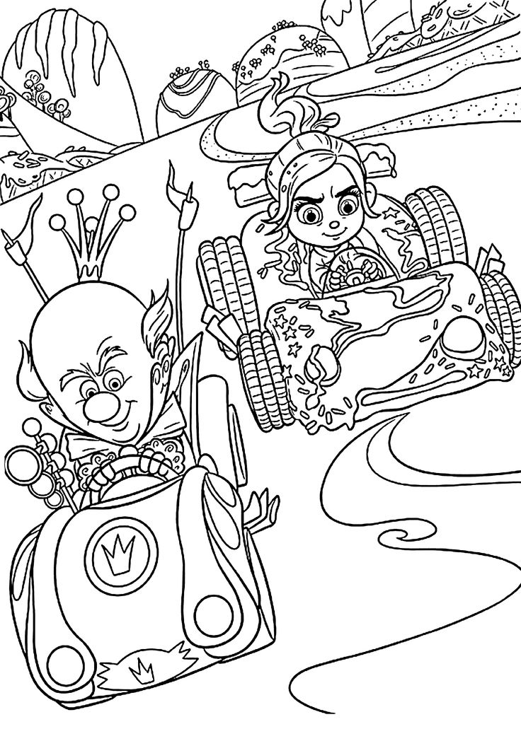 12 best COLORING SHEETS (WRECK-IT-RALPH) images on