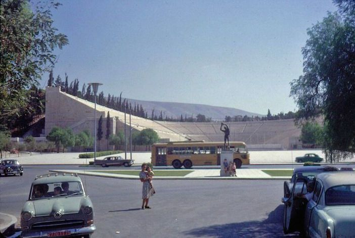 1960s - Kallimarmaron Stadion Athens Greece #hellas #stadium https://phileasfoggadventures.wordpress.com/2015/10/26/vintageathens/