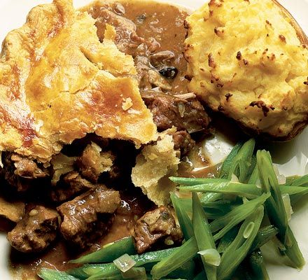 A good steak & kidney pie  An old favourite - a traditional steak and kidney pie, comfort food at its best.
