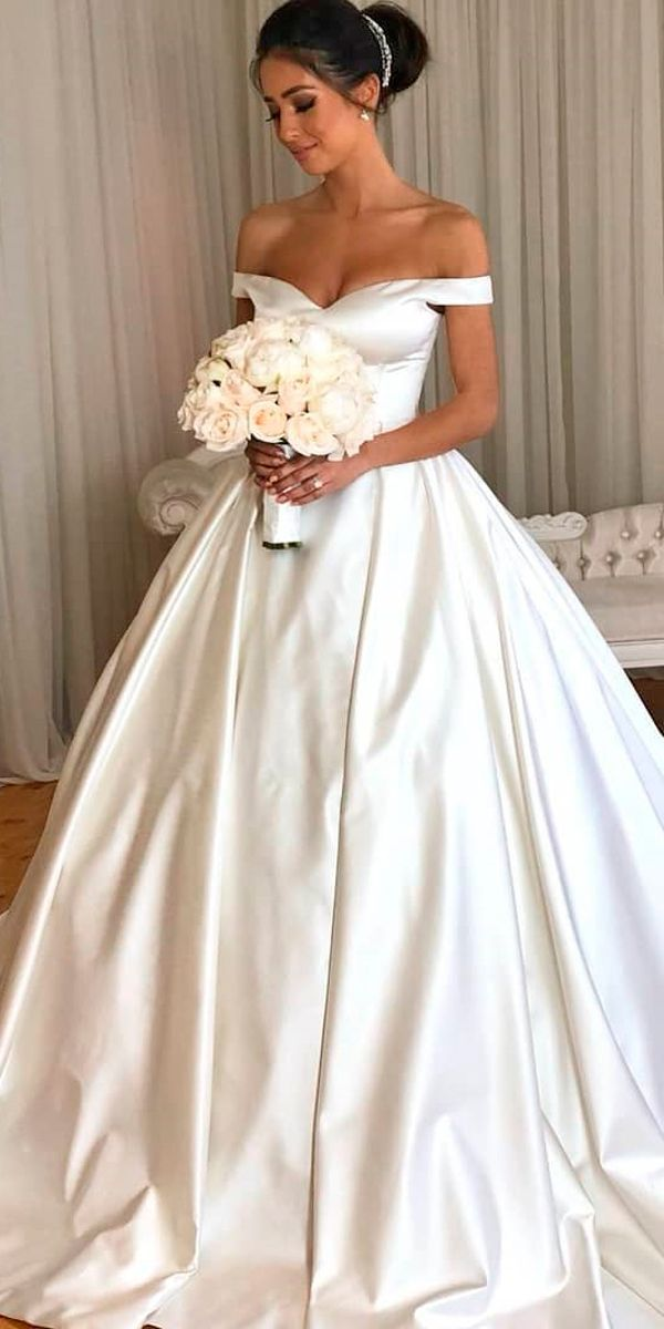 30 Ball Gown Wedding Dresses Fit For A Queen Off Shoulder