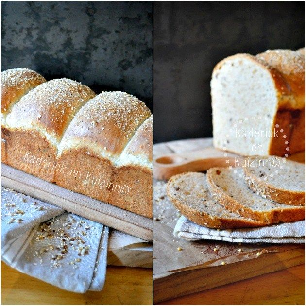 Recette du pain de mie complet et aux 5 céréales