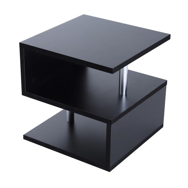 Homcom 50lx50wx50h Cm Side Table Black Side Table Table Decor Living Room Side Table Decor Living Room