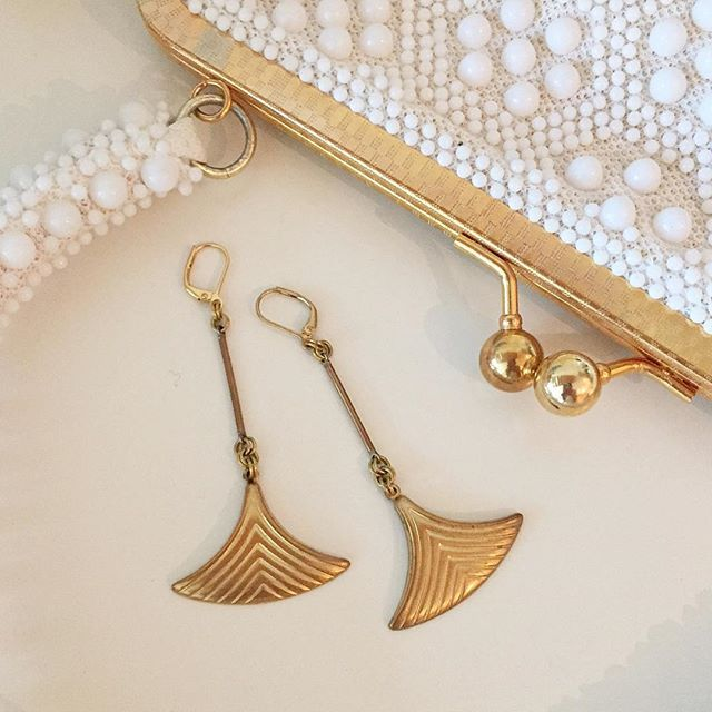 Fin Earrings. Long sleek and elegant. By MoonRox Jewellery & Accessories.