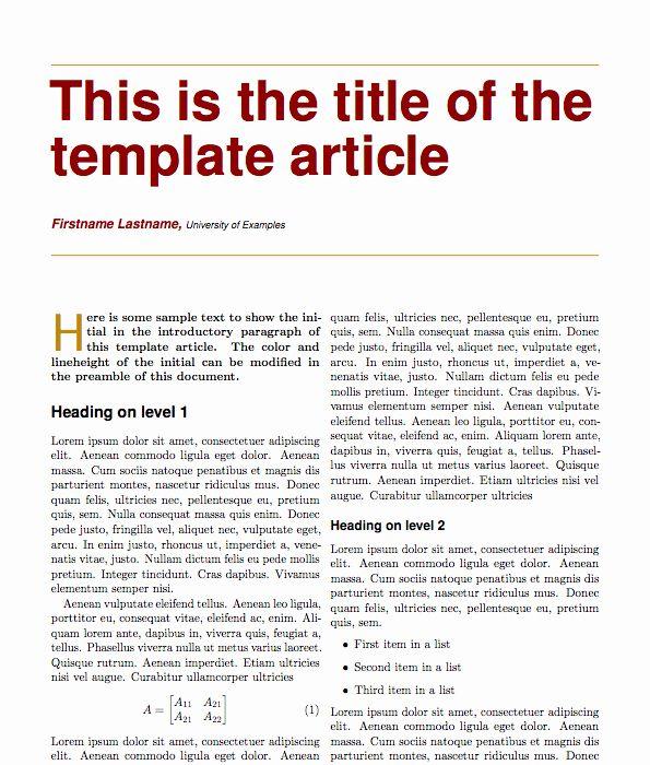 Newspaper Article Format Template Unique Magazine Article Template Newspaper Article Format Introductory Paragraph Scientific Articles