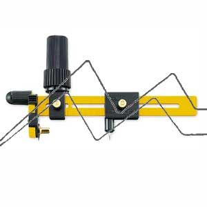 Cortador rotativo giratorio de compás para cortes circulares con una cuchilla de acero inoxidable de 18 mm.