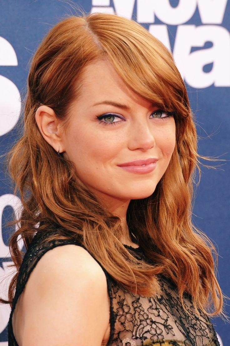 Los mejores looks de beauty de Emma Stone: color en el cabello