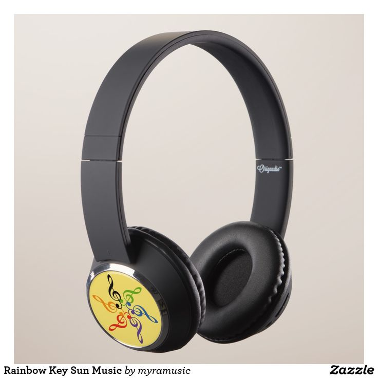 Rainbow Key Sun Music Headphones. Música, music. Producto disponible en tienda Zazzle. Tecnología. Product available in Zazzle store. Technology. Regalos, Gifts. #headphones #sound #music