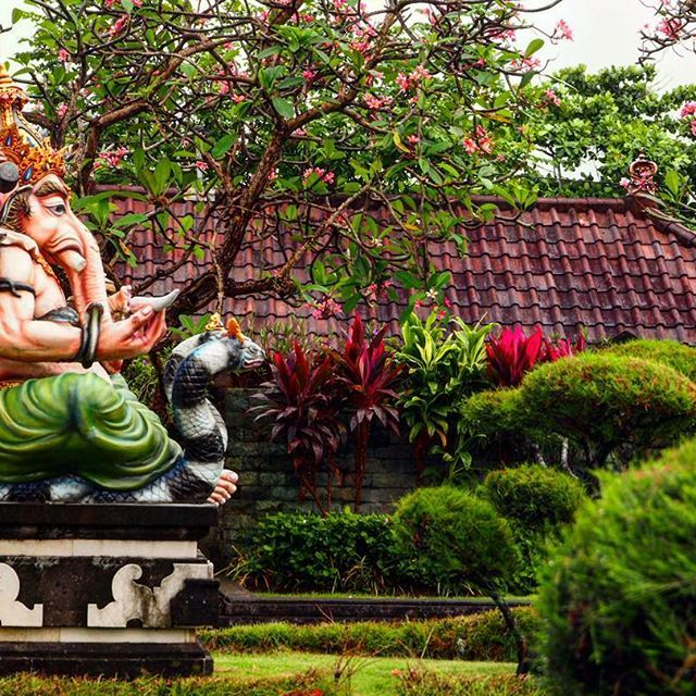 Indù temple in Bali!   La magia dei colori naturali è unica!! #tourbali #explorebali #bali #ubud #tirtaempul #colourful #ganesha #colors #love #green #balinesia #ig_bali #ig_ubud #travel #travelphotography #photooftheday #indonesia #indú #backpacker #explore