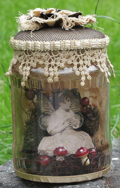 Altered jar; autumn by doortjedartel1978, via Flickr