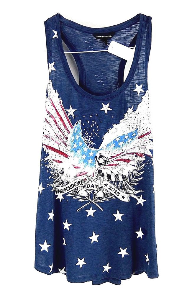 c9184eb9e61d6c Rock & Republic Embellished Red White Blue Independence Day Tank Top Womens  L #RockRepublic #Tank #Casual