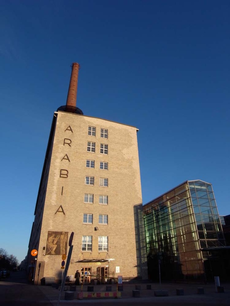 Arabia ceramics and glassware factory in the district called Arabia in Helsinki