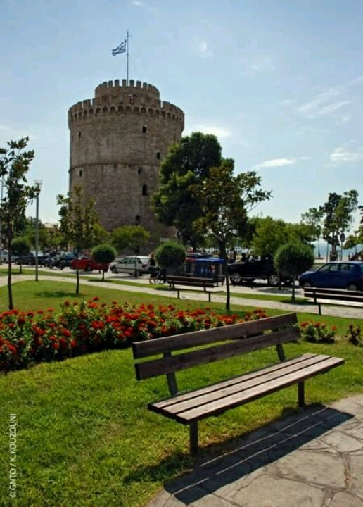 View of the White Tower, nicknamed the Queen of the North #Thessaloniki #Salonica #Greece
