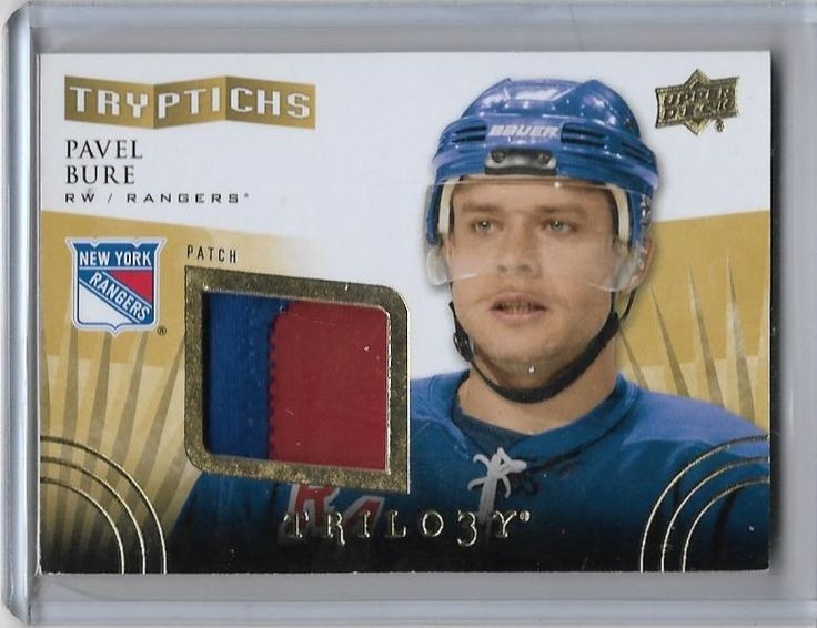 2014/15 UD TRILOGY TRYPITCHS PAVEL BURE 2 COLUR JERSEY /25