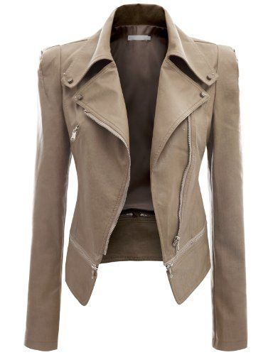 Doublju Women's Faux Leather Rider Jackets - Listing price: $71.99 Now: $43.99