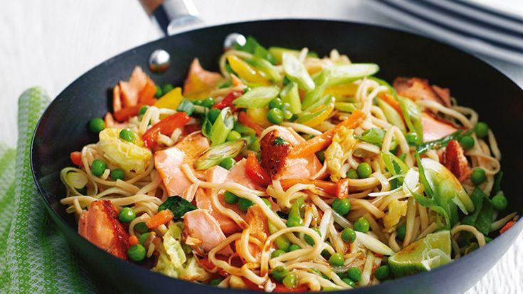 Teriyaki salmon noodle image